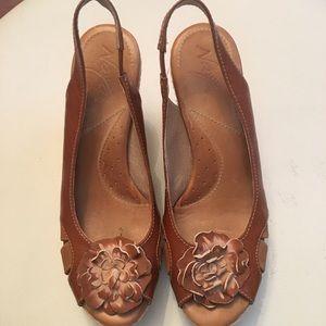 NAYA CORETTA Anthropology Brown Espadrille Sandals